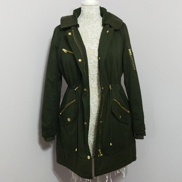 favorable price genuine shoes most reliable Guess Olive Green Coat